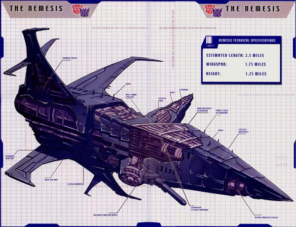 space shuttle transformers nemesis - photo #33