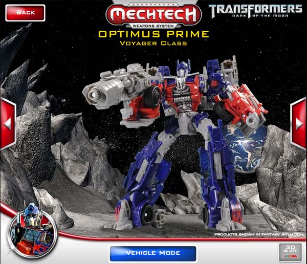 transformers dark of the moon optimus prime. Hasbro Transformers: Dark Of