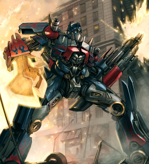 Optimus Prime Concept-Heat Scramble Booster Pack #2 Artwork