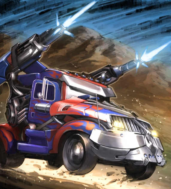 Optimus Truck Concept-Heat Scramble Booster Pack #2 Artwork