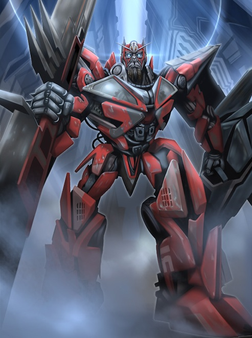 Sentinel Prime Concept-Heat Scramble Booster Pack #2 Artwork