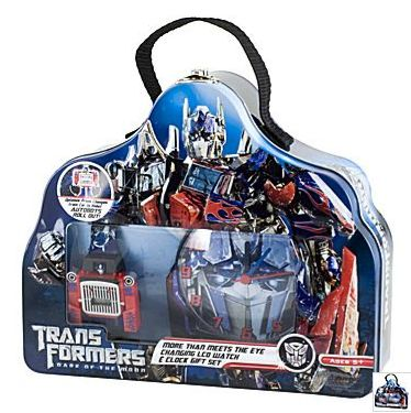 DOTM JCPenney Optimus Prime Clock Gift Set