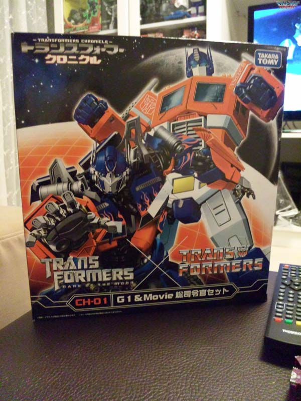 Takara Tomy CH-01 Chronicle Optimus Prime Set