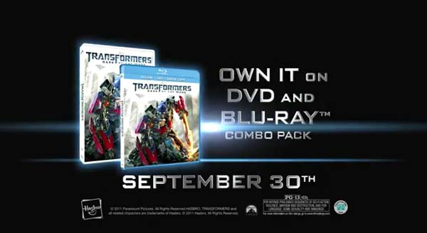 Transformers 3 Home Release Commercial