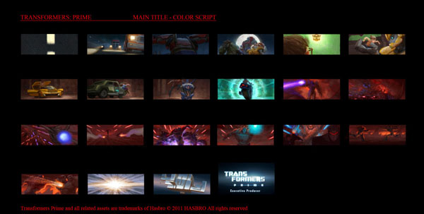 Transformers Prime Concept Art - Main Title