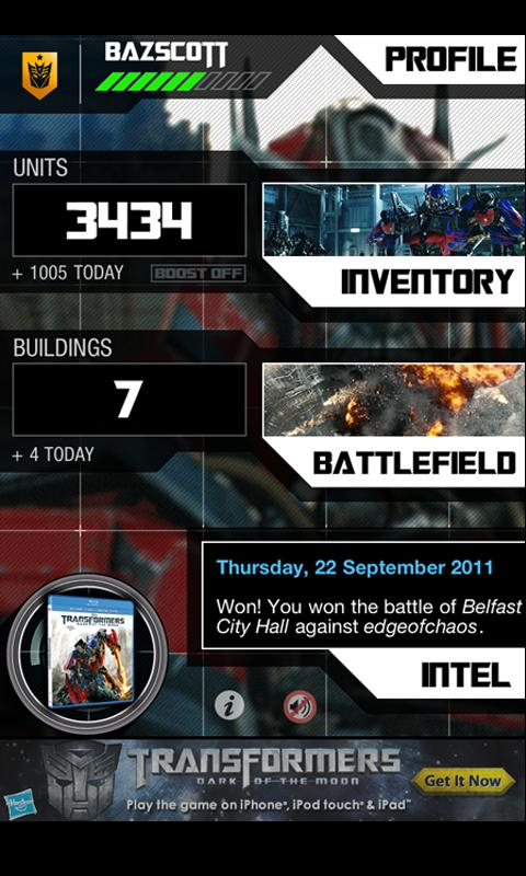 TF3 Battle Zone App iphone