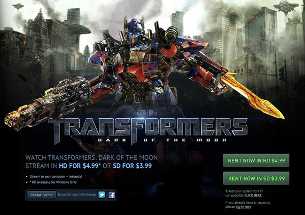 Transformers Dark of the Moon Streaming