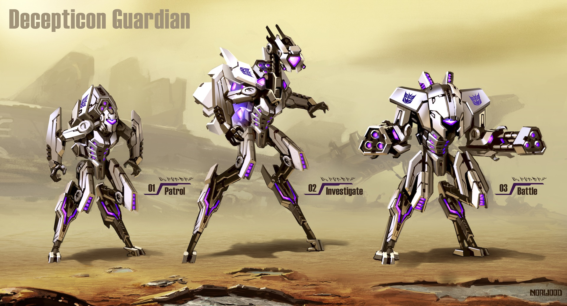 Transformers  FOC Decepticon  Decepticon Guardian Art