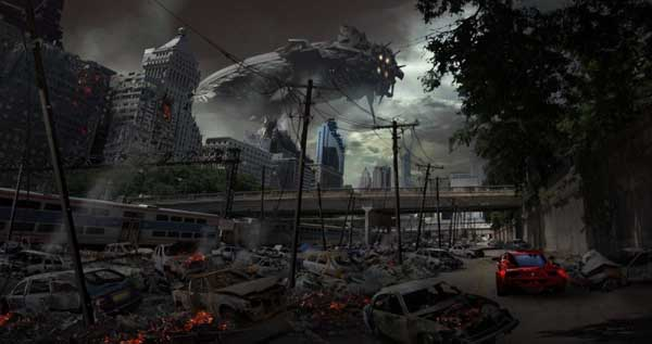 Transformers  3 Concept Art Chicago's Destruction 2