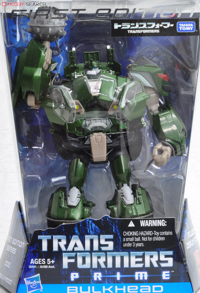 Transformers Prime Takara First Edition Toys - Bulkhead