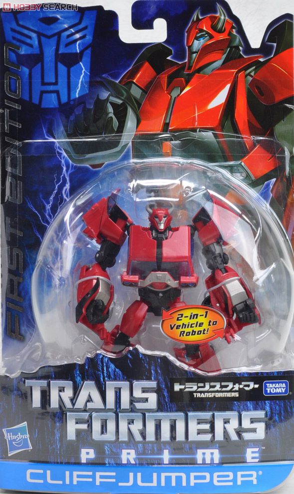 Transformers Prime Takara First Edition Toys - Cliffjumper