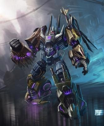 Fall of Cybertron Bruticus Concept Art
