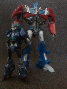 Optimus Prime and Arcee