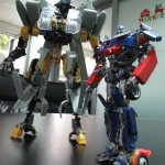 Transformers Blackout BB Optimus compared