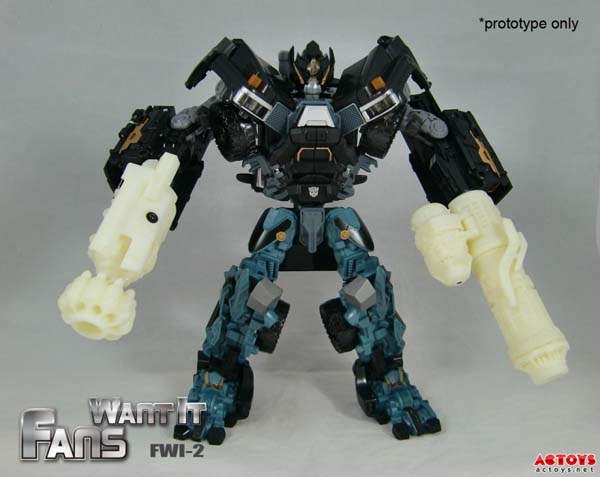 DOTM Ironhide custom cannon