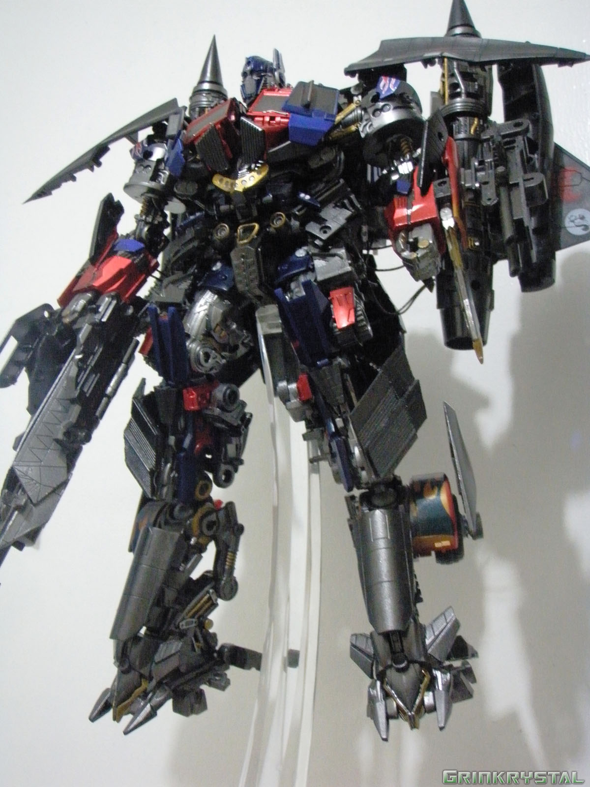 custom power up optimus prime | transformers custom toys | dotm