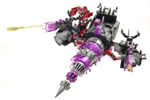 Transformers Prime Cyberverse Energon Driller Vehicle and Knockout