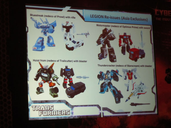 Transformers Asia only G1 issues legion class