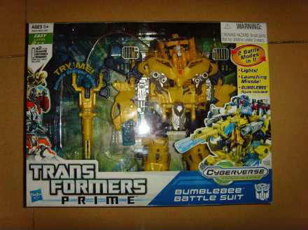 Transformers Prime Playset Bumblebee Battle Suit